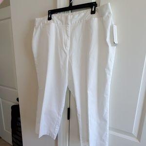 nwt womens sz 20w white crop charter club pant